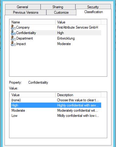 DAC Datenklassifikation