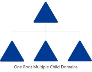 One Root Domain Multiple Child Domains Modell