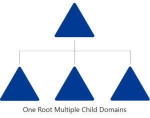 Domain Struktur einrichten - One Root Domain Multiple Child Domains Modell