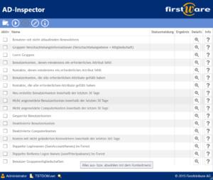 AD-Inspector - 17 Analysen zu Active Directory